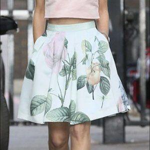 Ted Baker Maari Green Floral Skater Skirt
